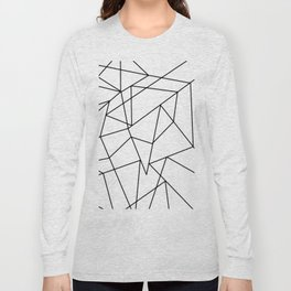 Simple Modern Black and White Geometric Pattern Long Sleeve T-shirt