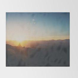 sunrise on Mt Woodson ... Throw Blanket