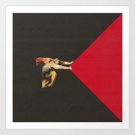 Red Corner Art Print