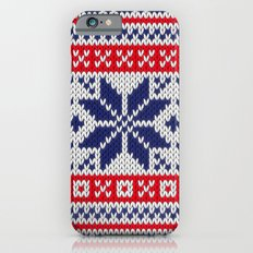 Winter knitted pattern 7 iPhone 6 Slim Case