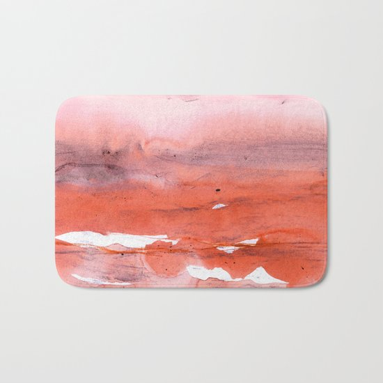 pink & modern orange Bath Mat