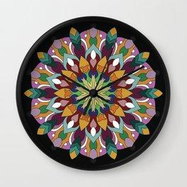 Mandala Returning Wall Clock