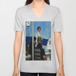 Edward Hopper Soir Bleu Unisex V-Neck