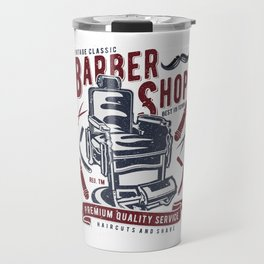 Vintage Barber Shop Travel Mug
