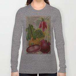 Vintage poster - Seven Grand Vegetables Long Sleeve T-shirt