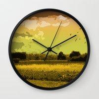 wildlife Wall Clocks featuring Wildlife by Sergio Silva Santos