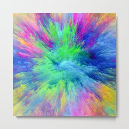 multicolor Metal Print
