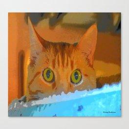 Sir Watson Tabby Digital Cat Canvas Print