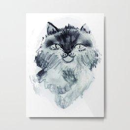 minnoş kedi Metal Print