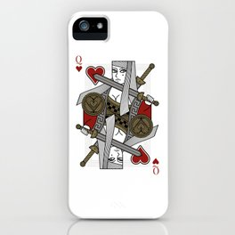 Omnia Illumina Queen of Hearts iPhone Case