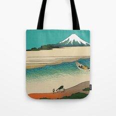 Tama River and Mount Fuji Tote Bag