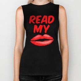 Read My Lips Biker Tank