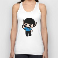 spock Tank Tops featuring Spock by Ziqi