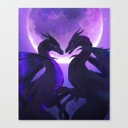 Moonlit Encounter Canvas Print