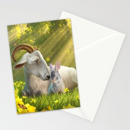 Goat and Bunny Stationery Cards