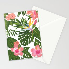 Jungle Floral Print Stationery Cards