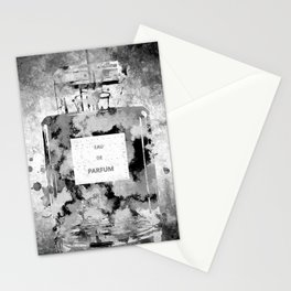 Perfume Black and White Stationery Cards