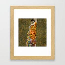 Hope II by Gustav Klimt, 1908 Framed Art Print
