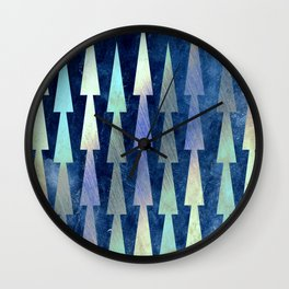 In the Christmas forest Wall Clock
