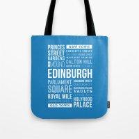 edinburgh Tote Bags featuring Edinburgh by Just Being Creative