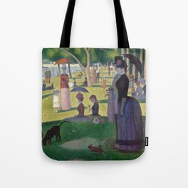 Georges Seurat - A Sunday Afternoon on the Island of La Grande Jatte Tote Bag
