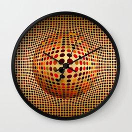 Ball illusion art Wall Clock