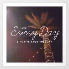 Taco Tuesday Art Print
