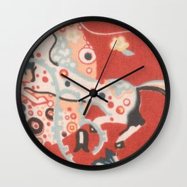 "Gustav Klimt ""Textile design - Model 3"" Wall Clock"