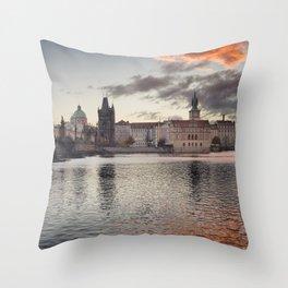 Prague Towers Throw Pillow