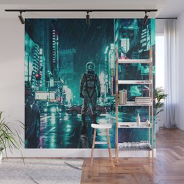 Another Rainy Night ( The Continuous Tale Of The Lost Astronauta) Wall Mural