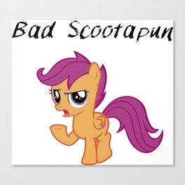 Bad Scootapun Canvas Print
