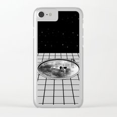 Pool Moon Clear iPhone Case