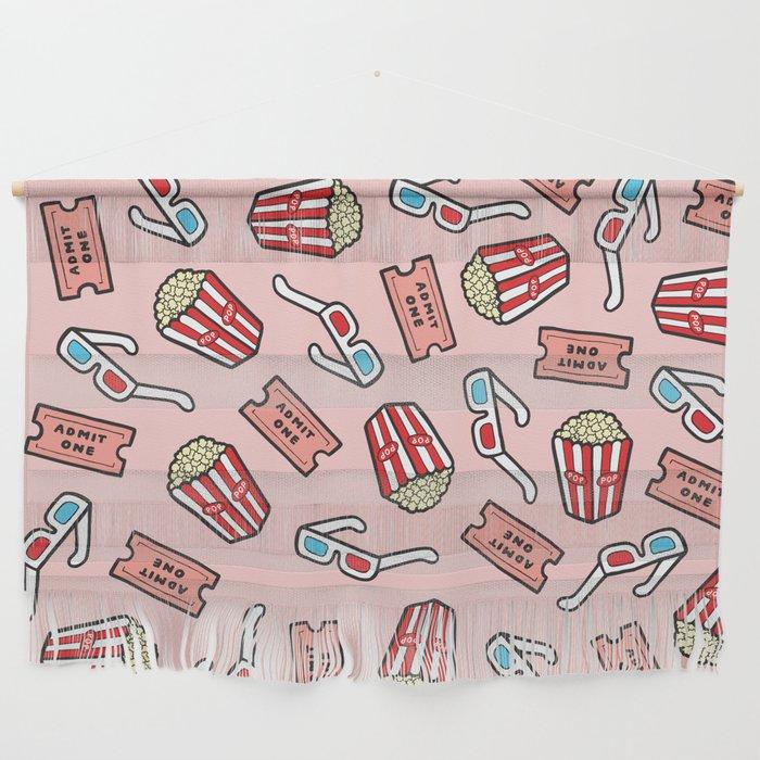 Movie Pattern in Pastel Pink Wall Hanging