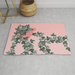 Pink potted ivy Rug