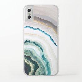 Green Agate #1 Clear iPhone Case