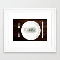 eat Framed Art Prints featuring eat by Andre Elliott