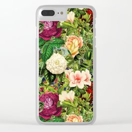 Vintage Floral Garden Clear iPhone Case