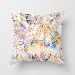 Mosaic of Barcelona XI Throw Pillow