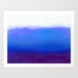 Blue Plum Minimalist Painting Art Print