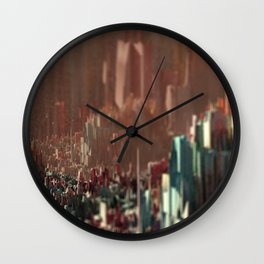 Cityscape scenic aerial view beautiful painting Wall Clock