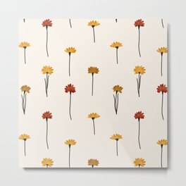 Colorful Acrylic Flowers Metal Print
