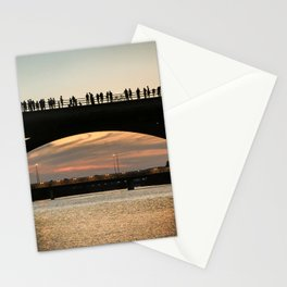 People at sunset Stationery Cards