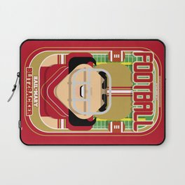 American Football Red and Gold -  Hail-Mary Blitzsacker - Amy version Laptop Sleeve