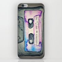 tape iPhone & iPod Skins featuring Mix Tape by Monika Strigel