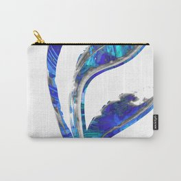 Blue Gray And White Art - Flowing 1 - Sharon Cummings Carry-All Pouch