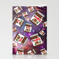nutella Stationery Cards featuring NUTELLA NEBULA by SteffiMetal