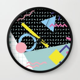 Memphis Pattern 6 - 80s - 90s - Retro Wall Clock