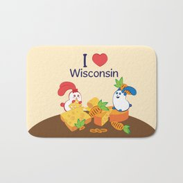 Ernest and Coraline | I love Wisconsin Bath Mat
