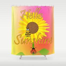 Summer Sunshine - Typography Shower Curtain