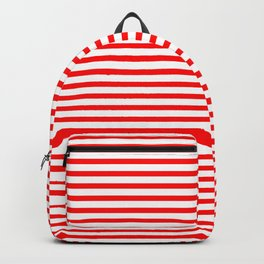 Red Candy Stripes Backpack